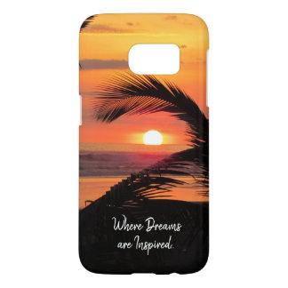 Tropical Sunset Beach View Samsung Galaxy S7 Case
