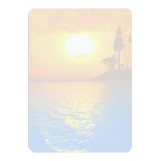 Tropical Sunset Blank Wedding Fan Program Paper 5x7 Paper Invitation Card