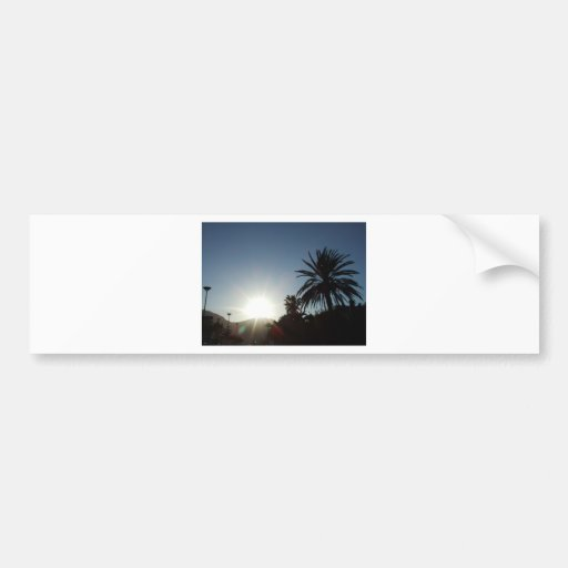 tropical sunset bumper stickers