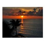 Tropical Sunset (Cancun) landscape photograph Postcard