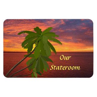 Tropical Sunset Door Marker Magnet