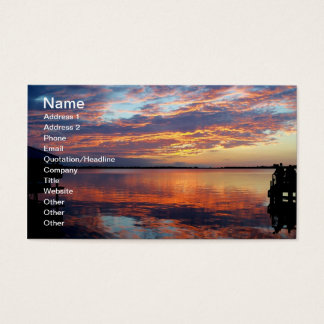 Tropical Sunset Florida Sunset Business Card Photo