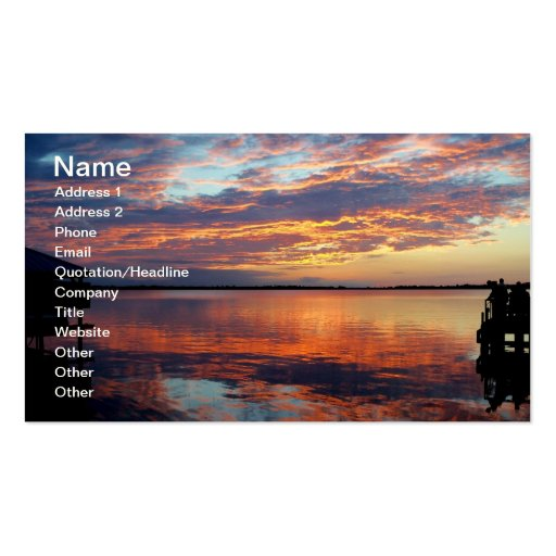 Tropical Sunset Florida Sunset Business Card Photo