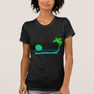 Tropical Sunset - Green/Blue T-Shirt
