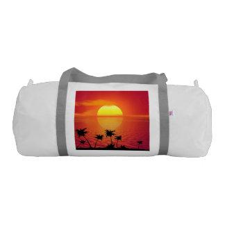 Tropical Sunset Gym Bag