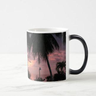 Tropical sunset on a morphing mug