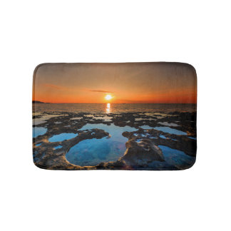 Tropical Sunset On Crater Beach Bath Mat