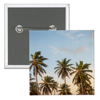Tropical sunset palm trees in Vintage Style 2 Inch Square Button