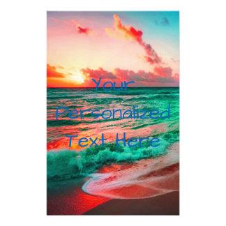 Tropical Sunset Paradise On Sandy Beach Flyer