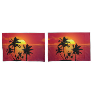 Tropical Sunset Pillowcase