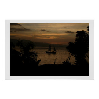 Tropical Sunset Poster