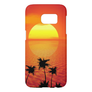 Tropical Sunset Samsung Galaxy S7 Case