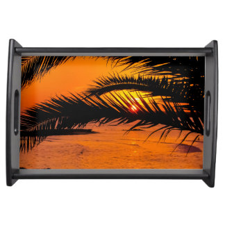Tropical sunset serving tray