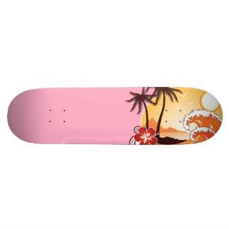 Tropical Sunset Skate Decks
