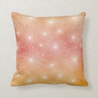 Tropical Sunset Starbursts Ombre Throw Pillows