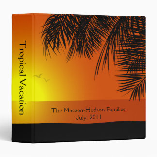 Tropical Sunset Sunrise Beach Photo Album Binders