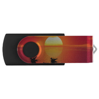 Tropical Sunset Swivel USB 2.0 Flash Drive