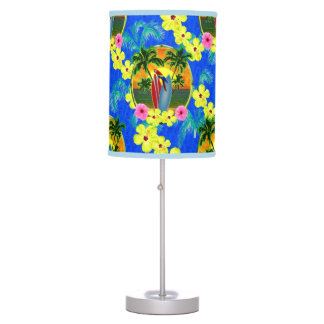 Tropical Sunset Table Lamp