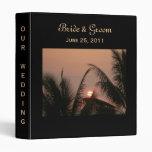 Tropical Sunset Wedding Binder