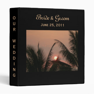 Tropical Sunset Wedding Binder