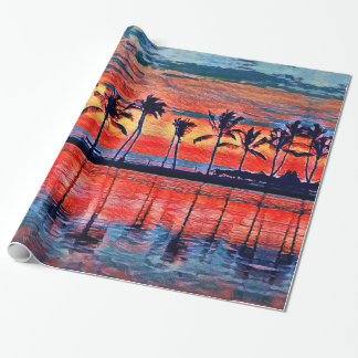 Tropical Sunset Wrapping Paper