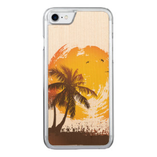 Tropical Sunshine Carved iPhone 8/7 Case