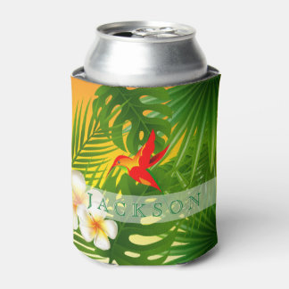 Tropical Sunshine with a Hummingbird Can Cooler
