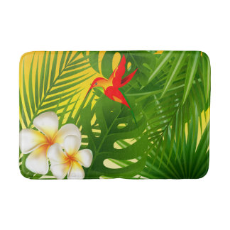 Tropical Sunshine with a Little  Hummingbird Bath Mat