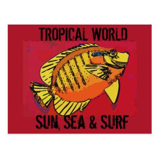 Tropical Surf Postcard