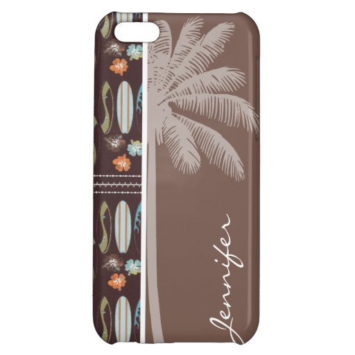 Tropical Surfboards & Hibiscus iPhone 5C Covers