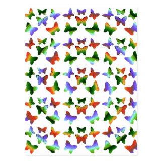 Tropical Swirl Butterfly Pattern Postcard