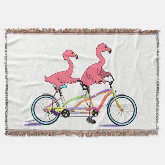 Tropical Tandem Flamingoes Throw