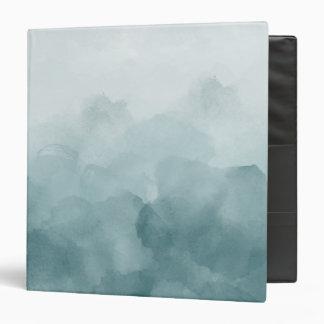 Tropical Teal Blue Watercolor Binder