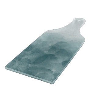 Tropical Teal Blue Watercolor Cutting Board