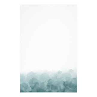 Tropical Teal Blue Watercolor Stationery