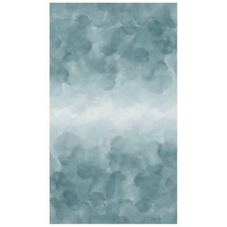 Tropical Teal Blue Watercolor Tablecloth