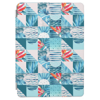 Tropical Teal Geometric Abstract Pattern iPad Air Cover