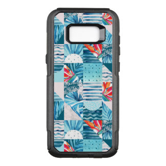 Tropical Teal Geometric Abstract Pattern OtterBox Commuter Samsung Galaxy S8+ Case