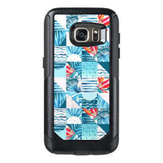 Tropical Teal Geometric Abstract Pattern OtterBox Samsung Galaxy S7 Case