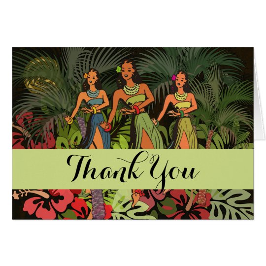 Tropical Thank You Hawaii Custom Template Artwork
