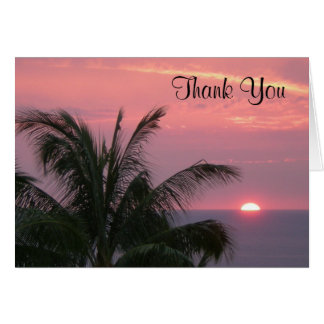 Tropical Thank You Notecard