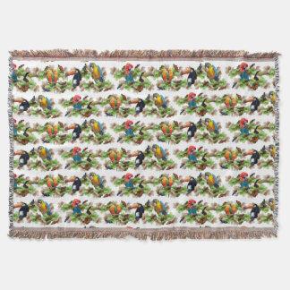 Tropical Throw Blanket (White)
