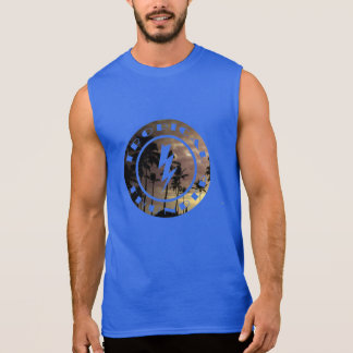 Tropical thunder sun dawn beach image sleeveless shirt