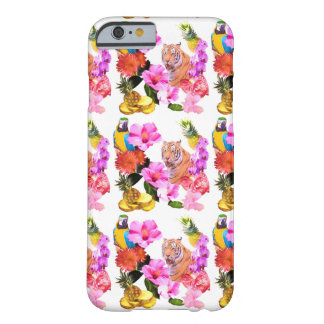Tropical Tiger, Parrot & Hibiscus iPhone 6 Case