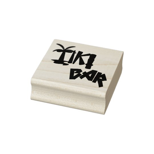 Tropical Tiki Bar Rubber Stamp
