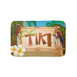 Tropical Tiki Design Bath Mat