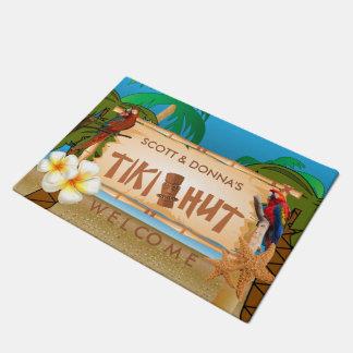 Tropical Tiki Hut Design Doormat