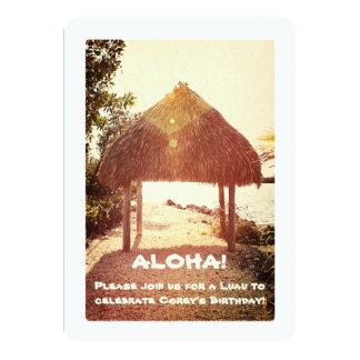 Tropical Tiki Hut Party Card