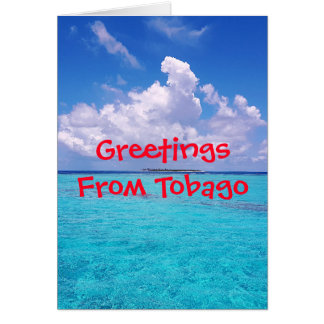 Tropical Tobago Caribbean Card