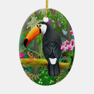 Tropical Toco Toucan Bird Ornament